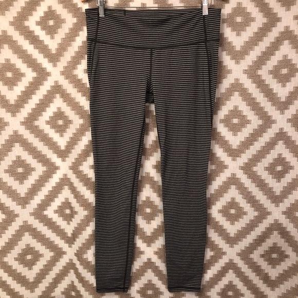 GAP Pants - Gap Fit Gfast Gray Black Striped Leggings!